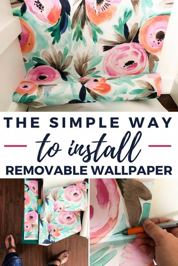 Installing Removable Wallpaper Is Easier Than I Ever Imagined This Simple Tutorial Will Teach Temporary Wallpaper Removable Wallpaper Peel And Stick Wallpaper