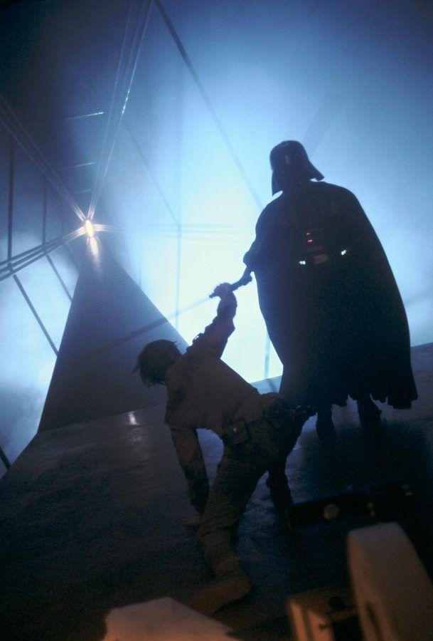 The Empire Strikes Back Luke Skywalker And Darth Vader On