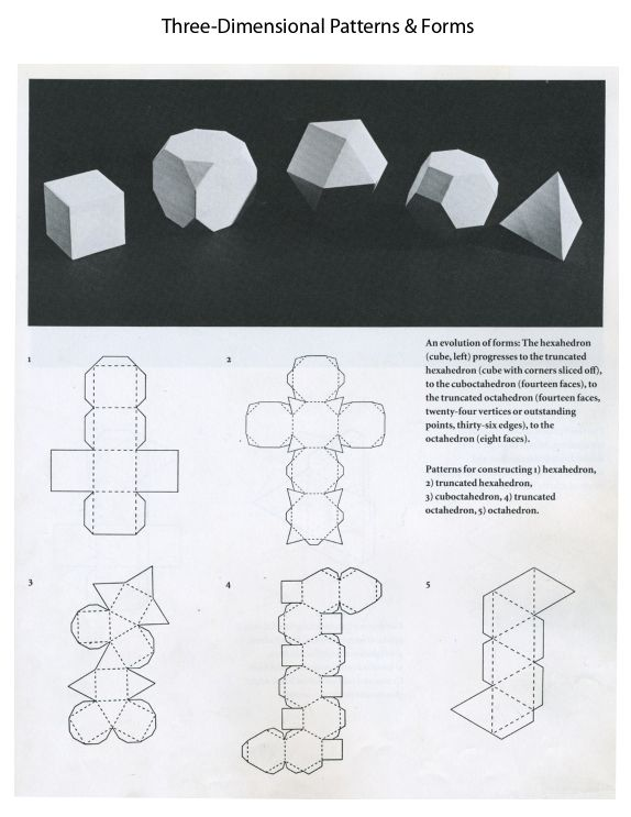 3D Form : A form that is tangible in its position in space. It has actual height, width, depth and volume.