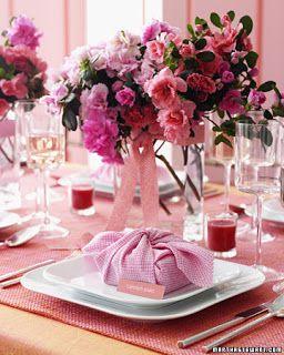 Decorando Festas - Mônica Buriche: Sugestões de Arranjos de Flores - Cor de Rosa (baixos)