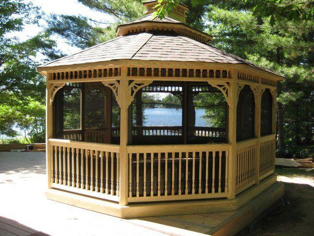 17 meilleures id es propos de gazebo en bois sur pinterest gloriette bois - Construire un gazebo ...