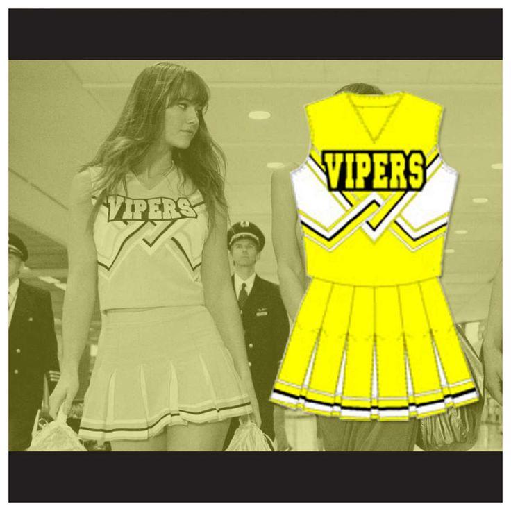 Death Proof Lee Montgomery (Mary Elizabeth Winstead) Vipers Cheerleader Uniform Stitch Sewn