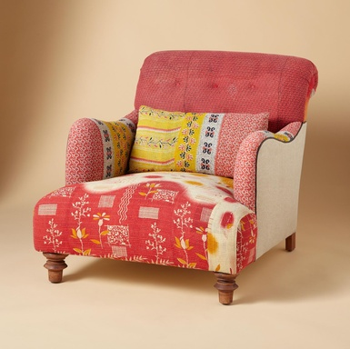 Interesting way I could reupholster a chair.