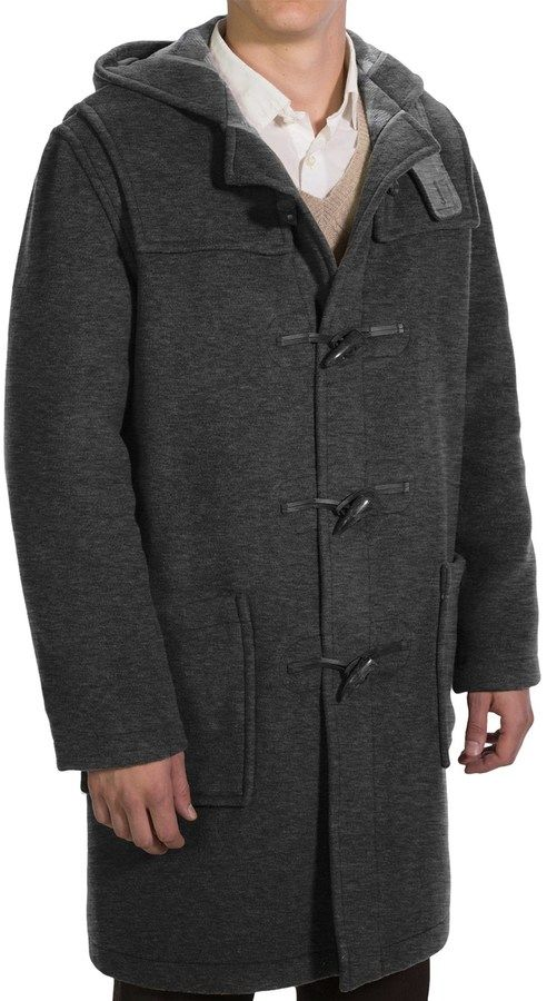 $299, Charcoal Duffle Coat: Modelcurrentbrandname Montgomery By John Partridge Duffle Coat Classic Fit. Sold by Sierra Trading Post. Click for more info: https://lookastic.com/men/shop_items/112257/redirect
