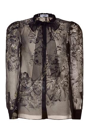 BlackFloralPrintBlousebyVALENTINO: Valentino Black, Blouses Style, Chiffon Blouses, Floral Prints, Fashion Style, Prints Blouses, Valentino Floral, Nice Blouses, Black Floral