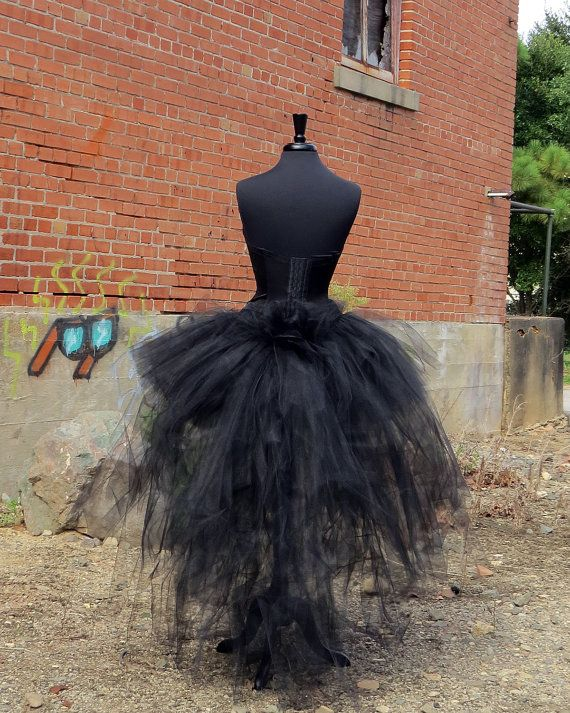 Adult Halloween burlesque black tulle tutu style skirt handcrafted with 300 yards of 6 tulle. Perfect for Halloween, costume, witch, pretty