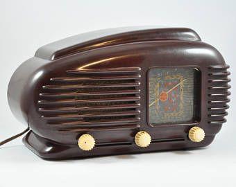 TESLA TALISMAN 308U Streamline Bakelite Radio, Vintage Radio, Antique Radio, Tube Radio, Tesla Radio, Vintage Audio, Art Deco