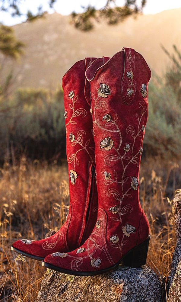 Red Womens Western Cowgirl Cowboy Boot