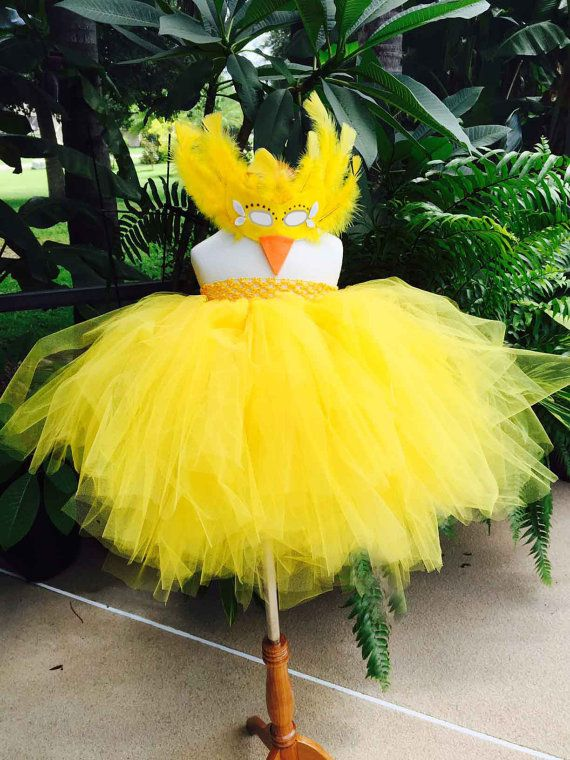 PEEP/CHICKEN Costume TUTU dress 1-5T tutu dress by SarahsMoon