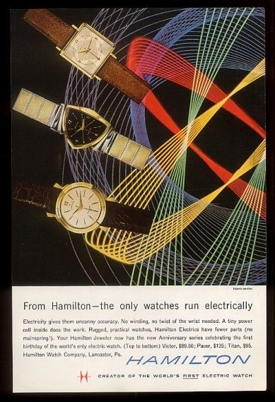 Wonderful Hamilton Electric watch advertisement.