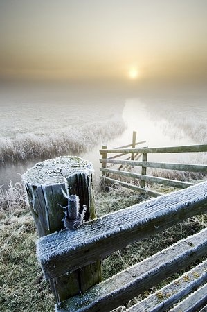 Winter sunrise over Elmley Marshes | by Robert Canis Wildlife Nature Photographer Lecturer Kent Photography