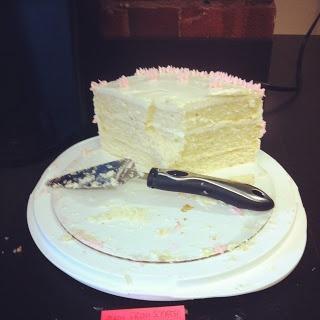 DIY WEDDING CAKE! Vanilla ButterMilk Cake. The Most amazing recipe ever!! : wedding buttermilk cake ivory pink vanilla wedding cake Photo