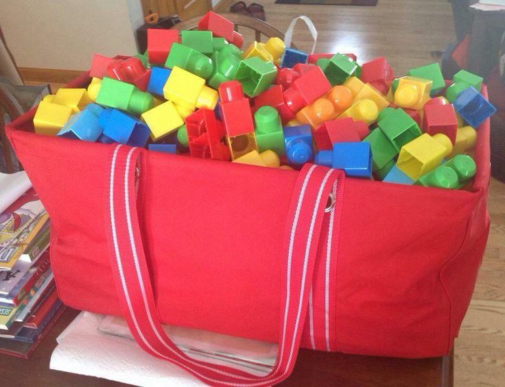 No more stepping on blocks!  Store them in a LARGE UTILITY TOTE! -Ashley S.
