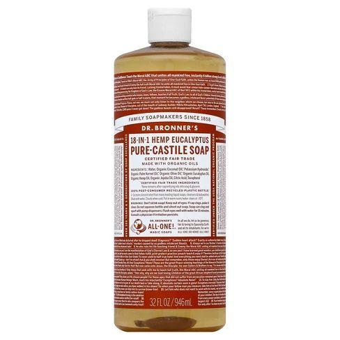 Dr Bronner S Pure Castile Soap Eucalyptus 32 Oz Pure