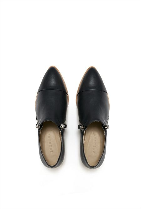 Zip Detailed Loafer - from Trenery in Ink