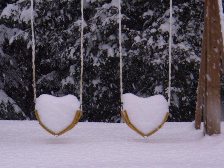 snow heart swings