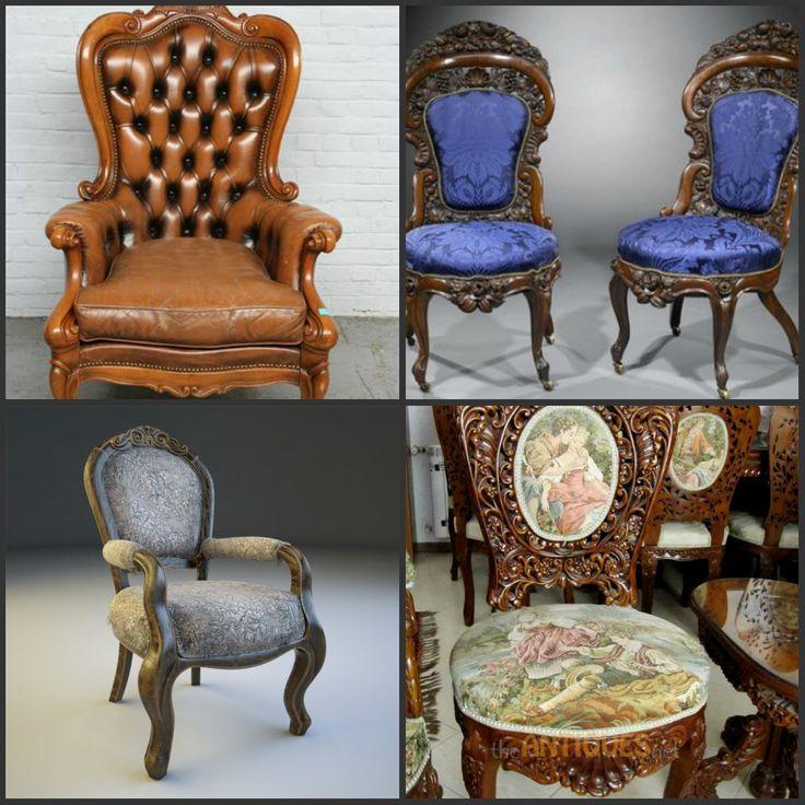 Чудесные антикварные стулья.