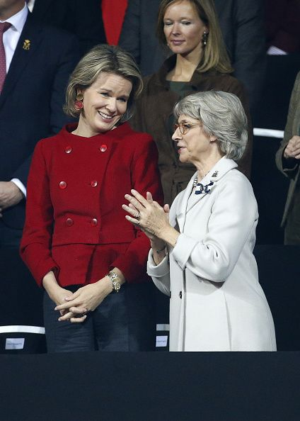 Queen Mathilde of Belgium and Birgitte, Duchess of Gloucester Attend Belgium v Great Britain: Davis Cup Final 2015 - Day Three on November 29, 2015 in Ghent, Belgium