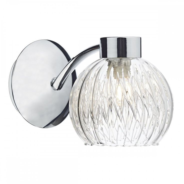 dar yas0750 yasmin 1 light switched wall light polished chrome