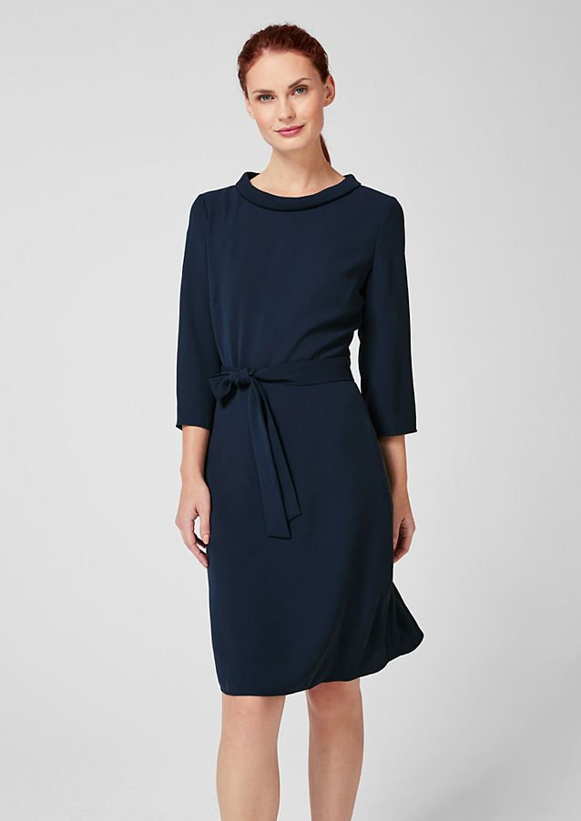 shimmering dress with a tie around belt from s oliver discover new