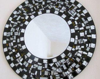 Mosaico de vidrio estrella de espejo azul