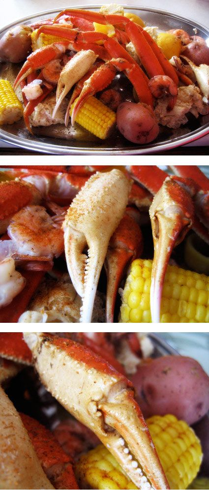 Crab Boil with Crab, Shrimp, Corn, and Potatoes