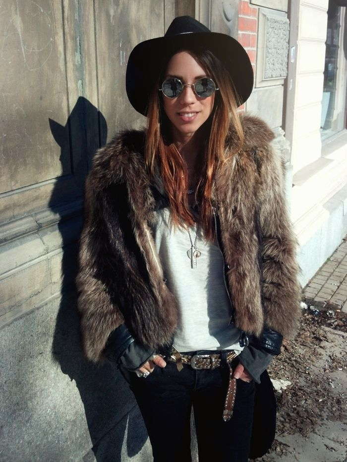 Edgy bohemian layers for winter.