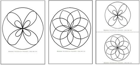 Mandalas zum Ausdrucken in 2 Größen DinA4 und DinA5