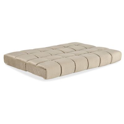 """Simmons Futons 8"""" Innerspring Queen Size Futon Mattress Color: Biscuit"""