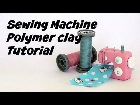 Miniature Sewing Machine - Polymer clay Tutorial - YouTube