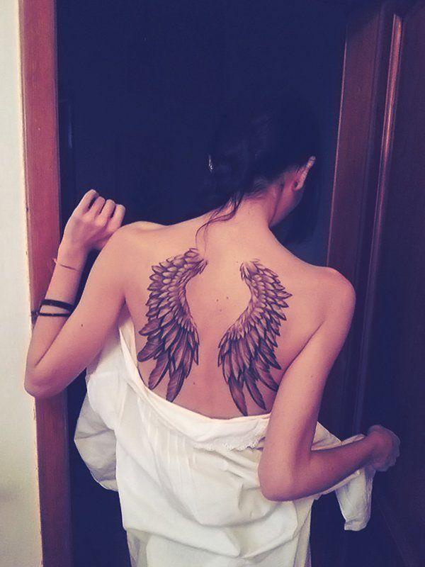 Tatuajes De Alas En La Espalda Y Su Significado Pinterest