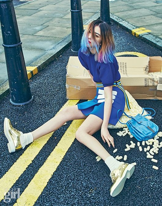 """""""On the Town"""" Irene Kim for Vogue Girl April 2015. Photographed by Kim Hee June"""