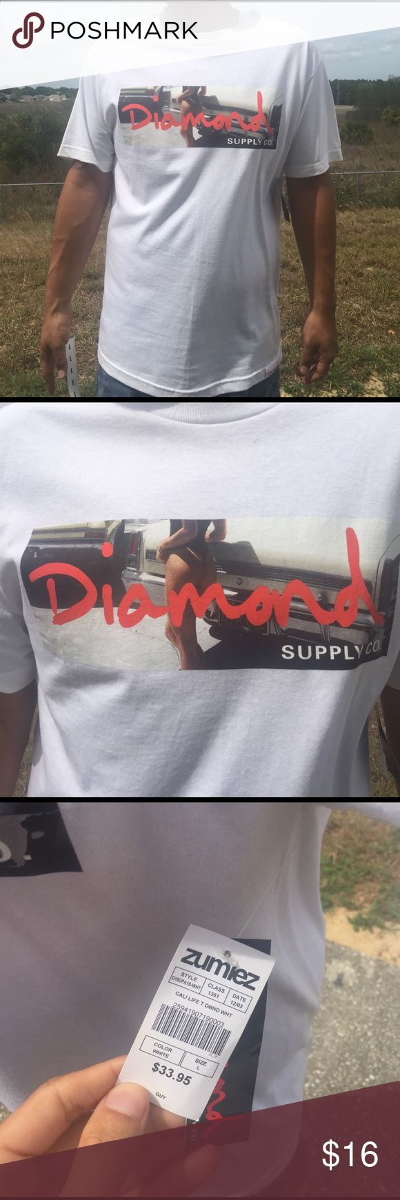 New Men's Diamond Cruiser tee Great quality brand new NWT men's cali life diamond supply company tee Diamond Supply Co. Shirts Tees - Short Sleeve
