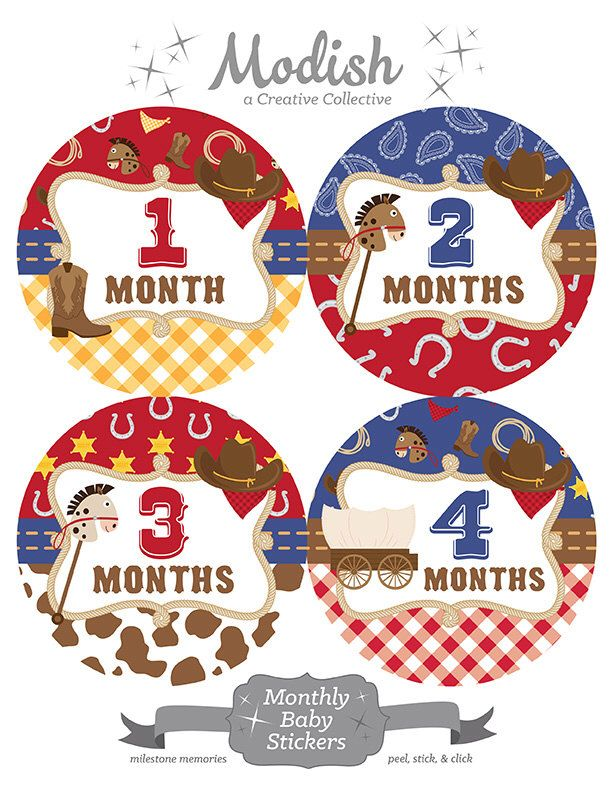 18 Month Stickers: FREE GIFT, Baby Month Stickers, Baby Month Stickers, Boy