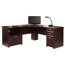 realspace magellan performance collection l desk 30 h x 70 910 w x 23 15 d espresso by office depot u0026 officemax