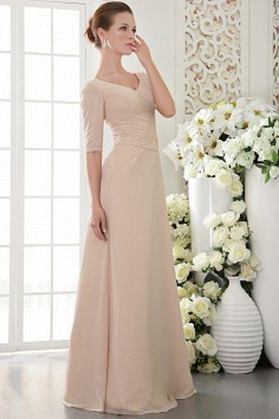 Elegant Mit V-Ausschnitt Mantel-Spalte Mutter Der Braut Kleid ba1141 - http://www.brautmode-abendkleid.de/elegant-mit-v-ausschnitt-mantel-spalte-mutter-der-braut-kleid-ba1141.html - Ausschnitt: V-Ausschnitt. Stoff: Chiffon. Ärmel: Halbarm. Farbe: Champagn