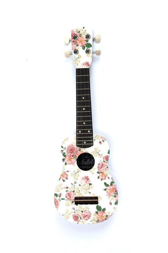 -Get a floral ukulele | Ukulele, Hangszerek, Inspiráció