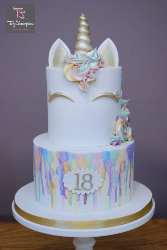 Rainbow Unicorn Cake Rainbowunicorn Rainbow Caketh Birthday