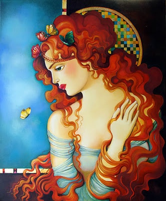 I am closest to Goddess when, like Her, I am conjuring ideas and visions and bringing them into being in the physical world. Art by Roza Goneva