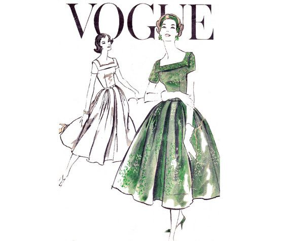 Check out this item in my Etsy shop https://www.etsy.com/au/listing/230402065/1950s-full-skirt-dress-pattern-vogue