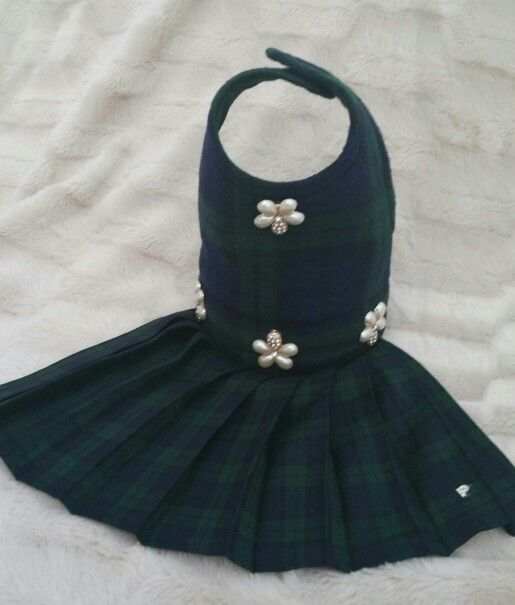 For Sale In www.pixiesposhpets.co.uk or fb pixies posh pets. Bodice is made from cashmere and wool mix with pearl and diamantes flowers on waistband and at the top. On the skirt you will find a diamante P to show it is a original Pixies