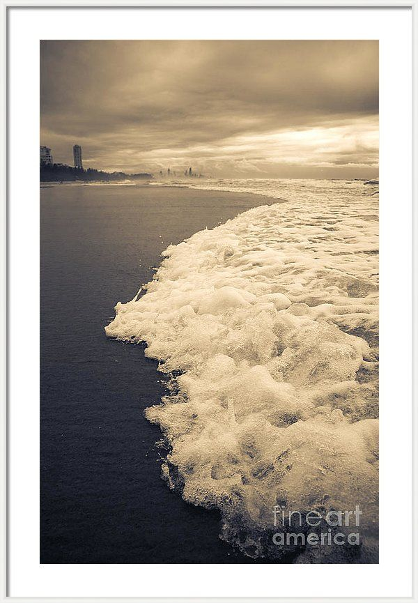 Gold Coast Framed Print featuring the photograph Stormy Gold Coast Beachfront by Jorgo Photography - Wall Art Gallery