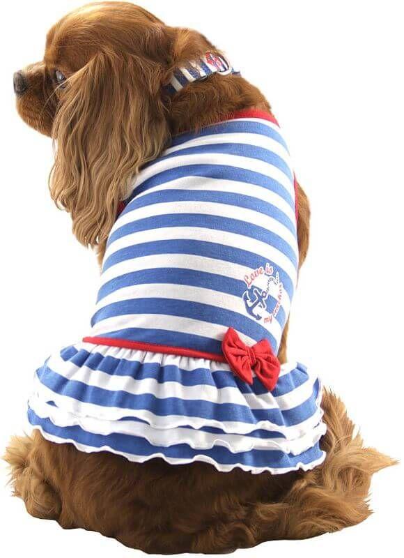 Платье Triol Nautica « Матроска» для собак, летнее в интернет магазине ZooVenta.ru