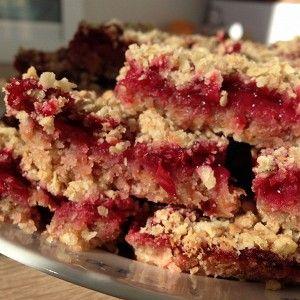 Клюквенное печенье (Cranberry crumble bars)