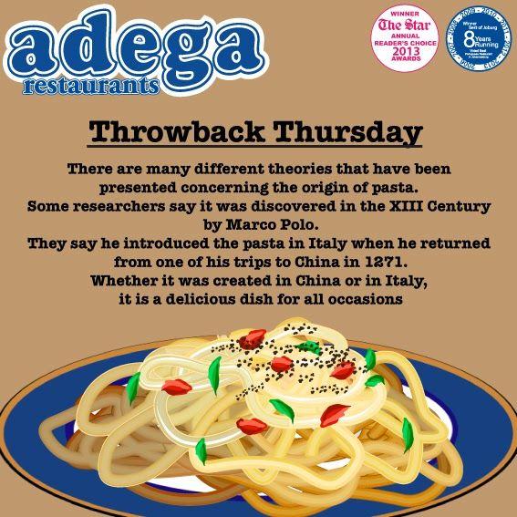 Throwback Thursday - Pasta