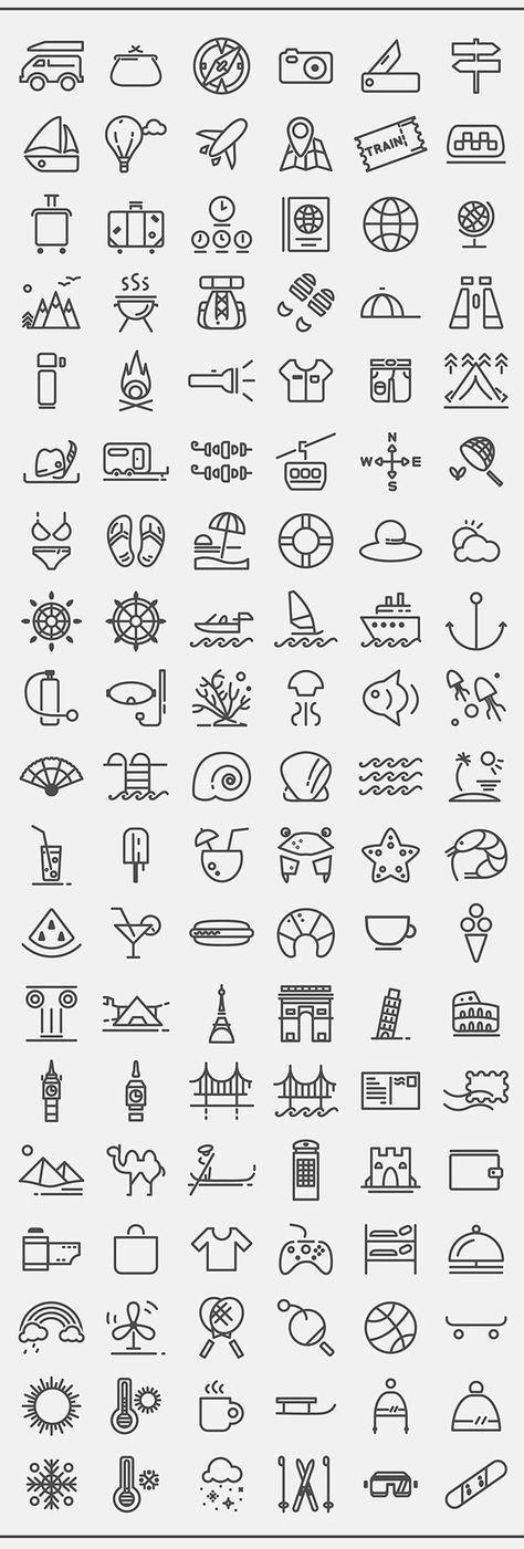 Voll skalierbare Strichsymbole, Strichgewicht 3,5 pt. Nützlich für mobile Apps, UI und …, …