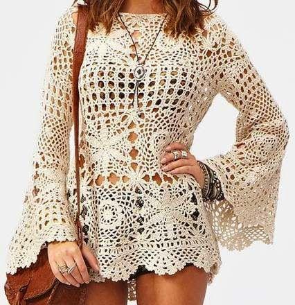 Crochet trésor: des tuniques à manches longues