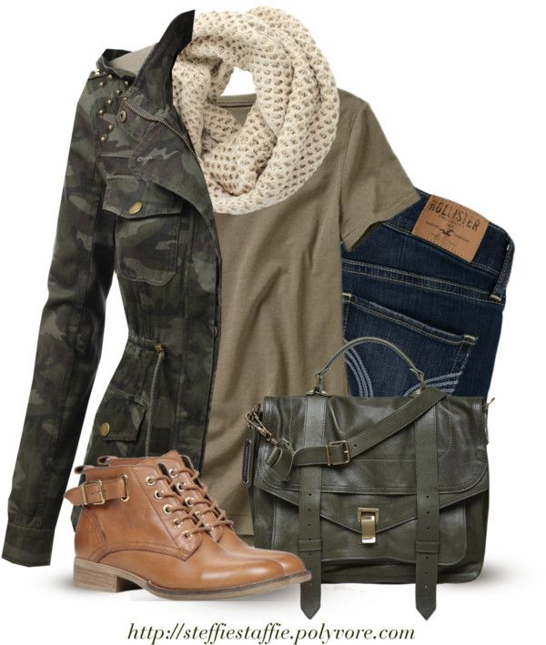 Military look fall outfit