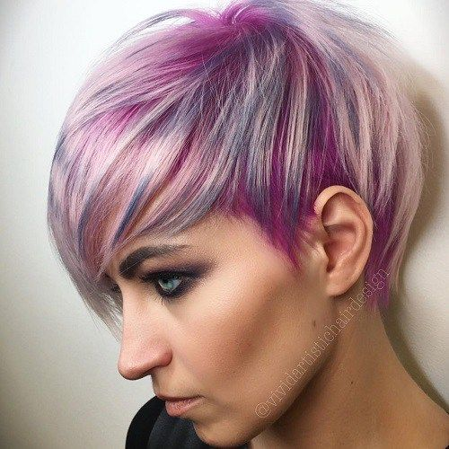hair style with bangs 25 best ideas about purple pixie cut on dyed 8218