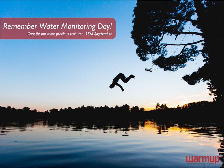 Remember Water Monitoring Day! #monitorwater #watermonitoringday #waterforlife #warmupsa #warmupyourfeet #nomoresocks